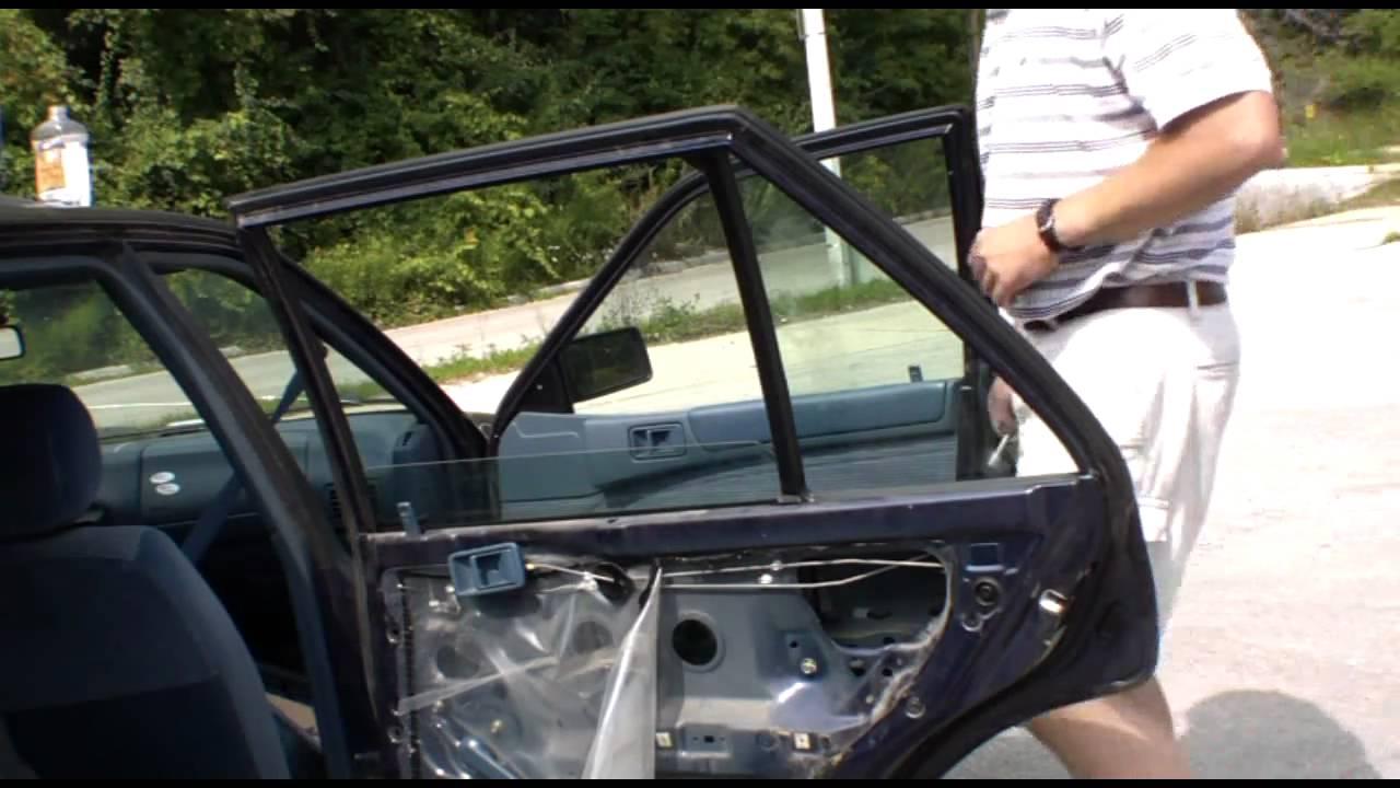 Replace Broken Car Side Window Part 2 Of 2 Youtube
