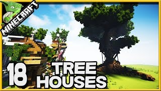 Minecraft 18 Treehouses in Default