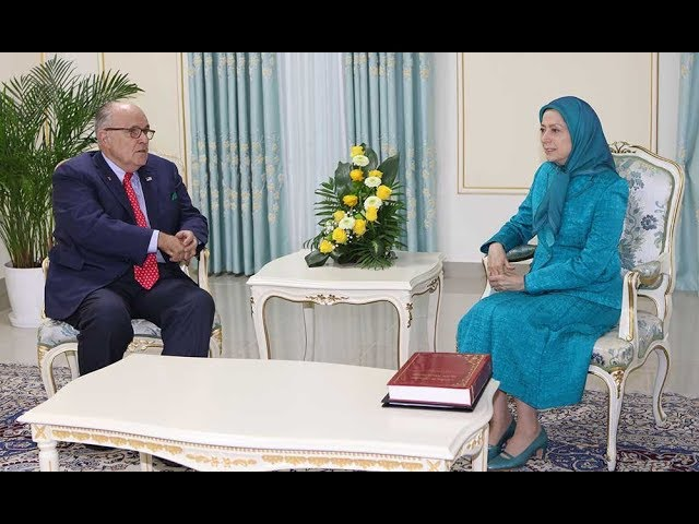 Maryam Rajavi meets Mayor Rudy Giuliani