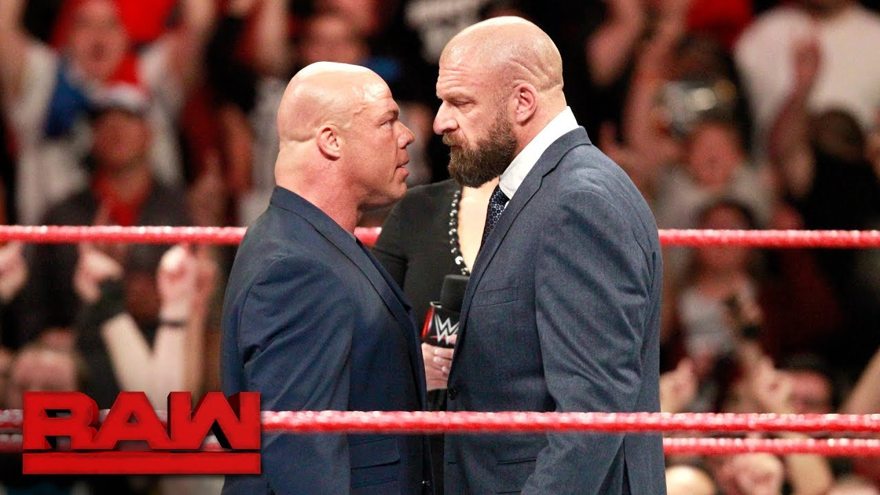 Image result for Kurt angle HHH stare down