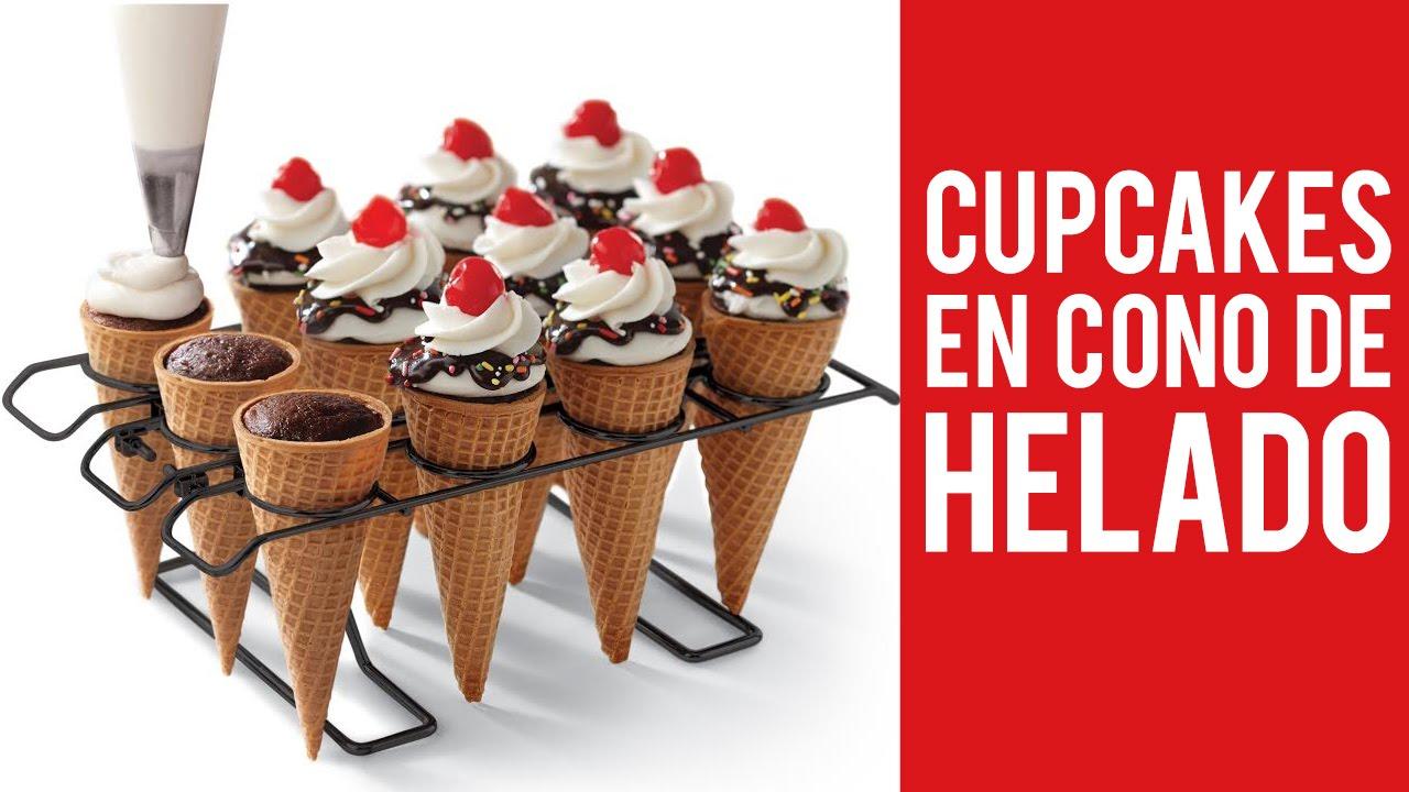 Cupcakes en cono de helado youtube - Calorias de un cono de helado ...