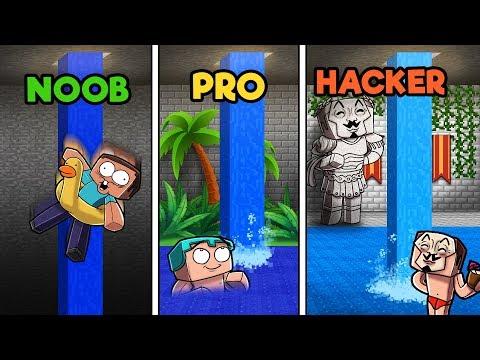 Minecraft - SECRET UNDERGROUND POOL! (NOOB vs PRO vs HACKER)