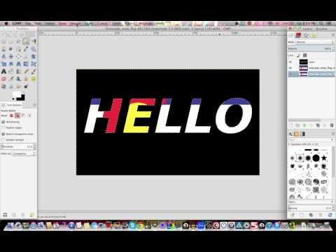 How to make text transparent in gimp