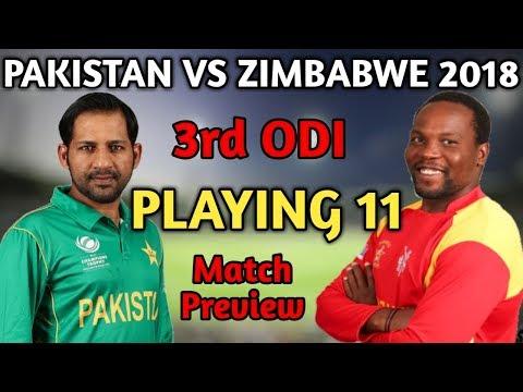 Pakistan Vs Zimbabwe 3rd ODI Match 2018 Playing 11 And Match Preview | Pak Playing 11 vs Zim 2018 thumbnail