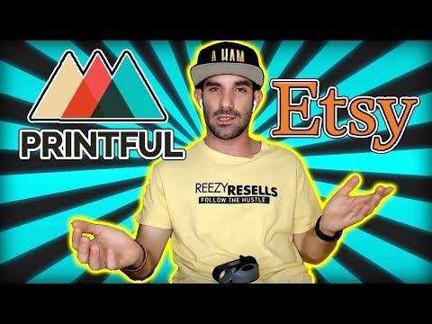 Printful Etsy Integration | Sell Shirts on Etsy Using Printful | How to Setup and Make Sales