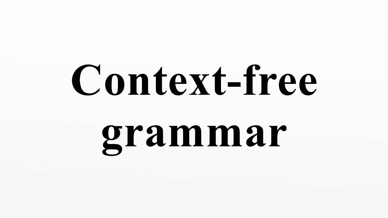 Context free grammar youtube context free grammar biocorpaavc