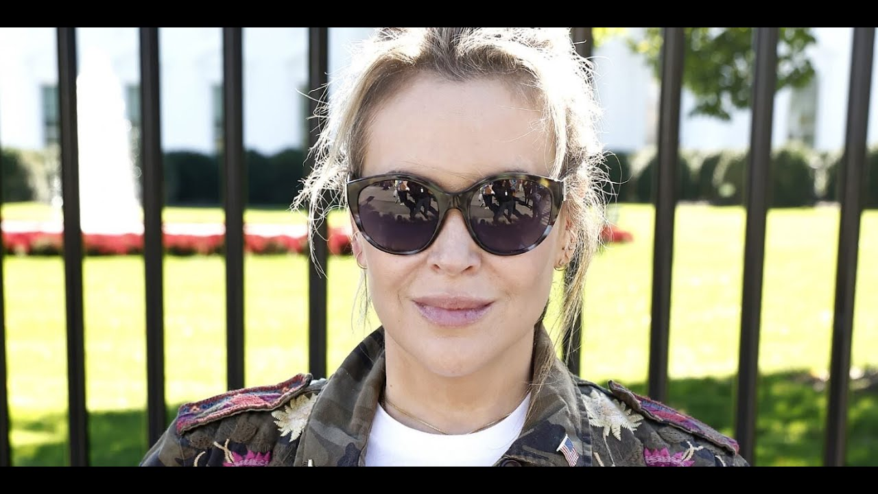 Alyssa Milano arrested at voting rights demonstration outside White ...