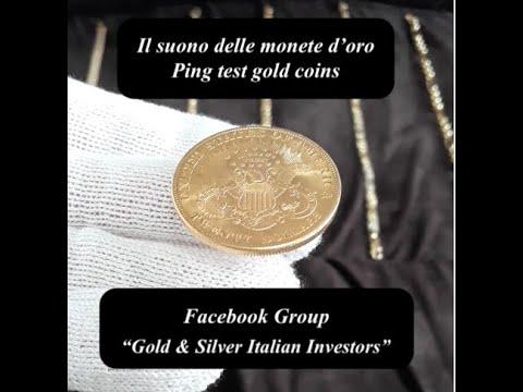 Il suono delle monete d'oro - Sound Gold Coins Ping Test. Investimento Pesos Dollari Sterlina Soles