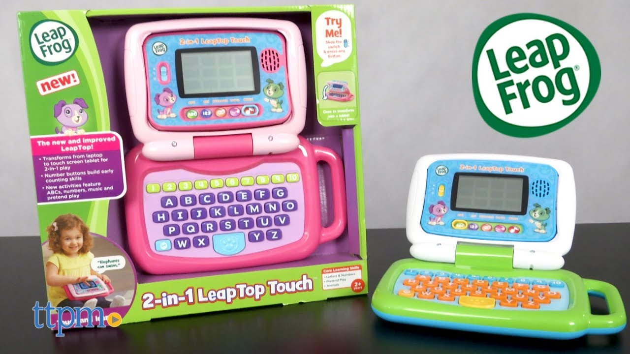 2 In 1 LeapTop Touch Pink Green From LeapFrog