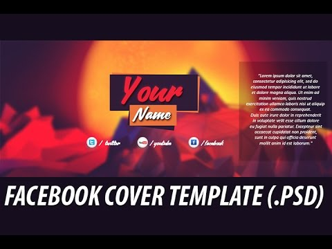 Facebook Cover Template #2 (Adobe Photoshop) - YouTube