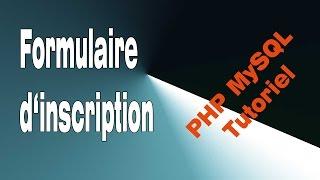 PHP MySQL : Formulaire d