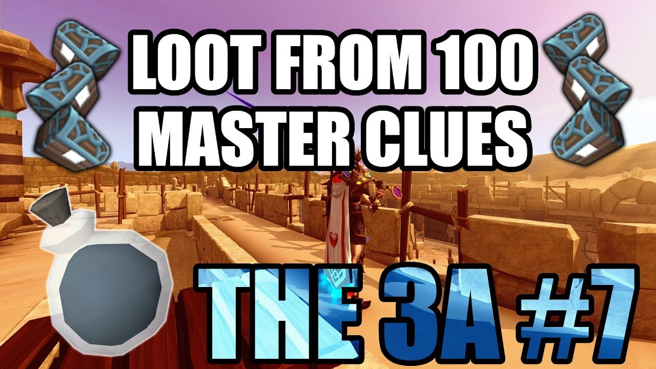The Third Age #7 : Loot From 100 Master Clues (Runescape 3)