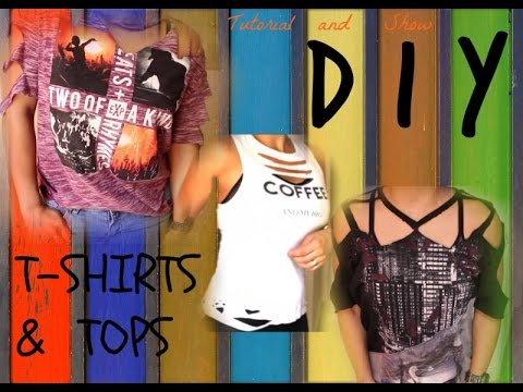 DIY|| CUT UP T-SHIRT TUTORIAL