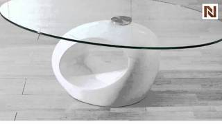 Modern White Coffee Table With Swivel Vgcjm022 Wht