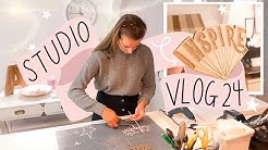 Studio Vlog 24 - Making Etsy Orders & Designing a Wooden Pin