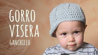 Repeat youtube video Tutorial Gorro Con Visera Ganchillo | Crochet (Todas las Tallas)