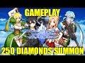SWORD ART ONLINE Memory Defrag Gameplay 250 DIAMONDS SUMMON