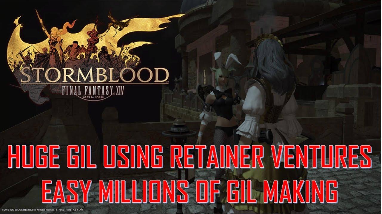Final Fantasy XIV: Stormblood - Huge Gil Making Guide from Retainer Ventures