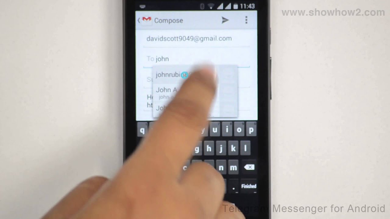 Telegram Messenger For Android How To Invite Friends Through Gmail