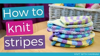 How To Knit Stripes (without weaving in uncountable ends!) Creating stripes as you knit can be done in many ways, not least with stripey yarn! But if you have ...
