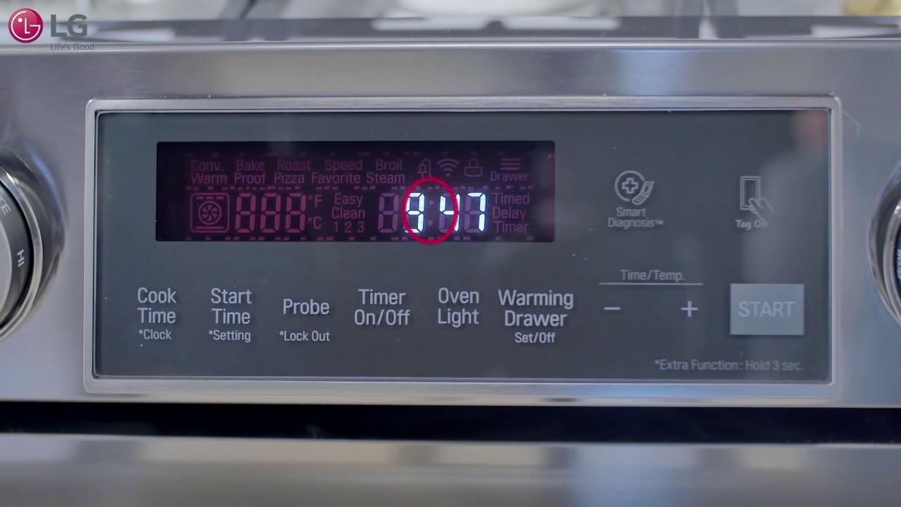Lg Range Flashing Clock Youtube