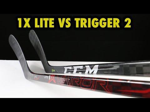 Bauer Vapor 1X Lite vs CCM Ribcor Trigger 2 hockey stick review