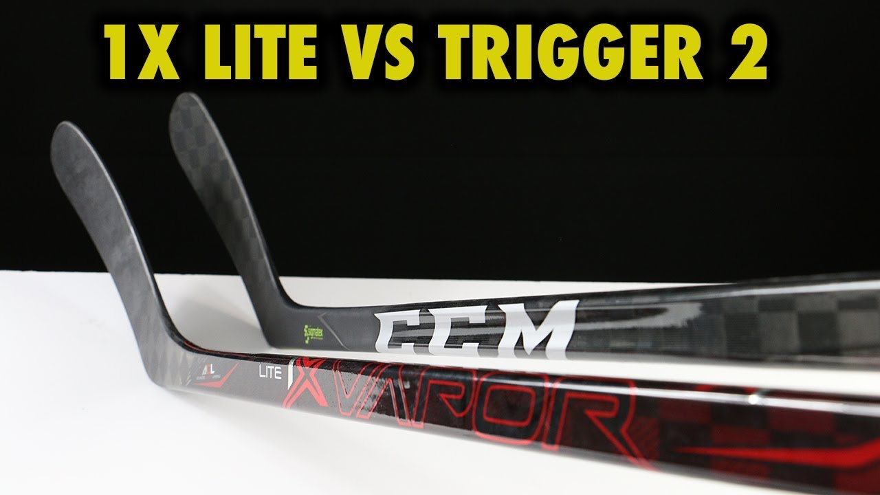 bba776c1099 Bauer Vapor 1X Lite vs CCM Ribcor Trigger 2 hockey stick review ...