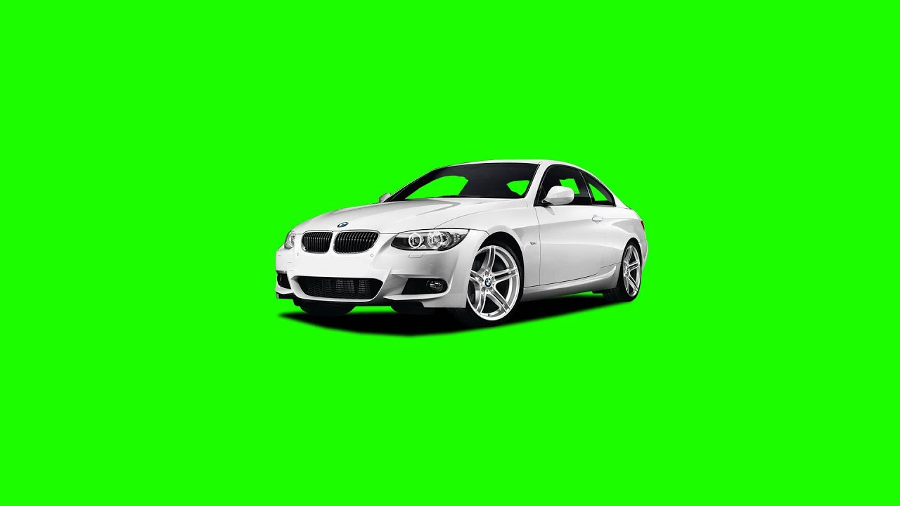 BMW Super Car In Green Screen Free Stock Footage