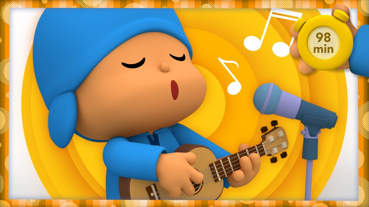 🎹POCOYO AND NINA - Happy Musician's Day [98 minutes]   ANIMATED CARTOON for Children   FULL episodes