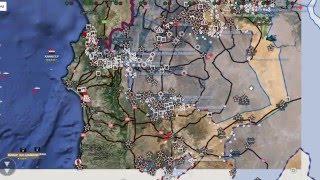 Обзор карты боевых действий в Сирии и Ираке от 15.01.2016г