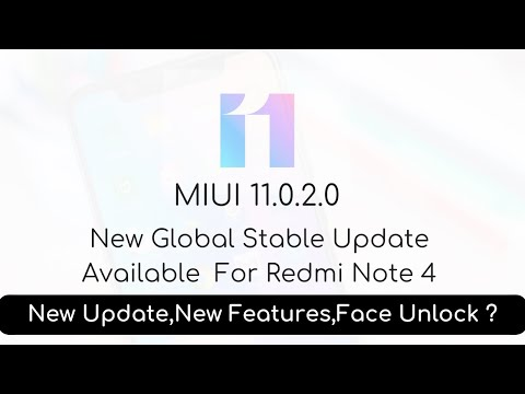 Redmi Note 4 MIUI 11.0.2.0 New Global Stable Update | Note 4 Face Unlock | The Android Rush