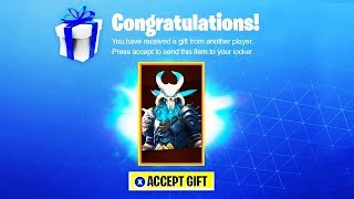 This happens when you have a SKIN GIFT! (Fortnite Gifting System Release Date)