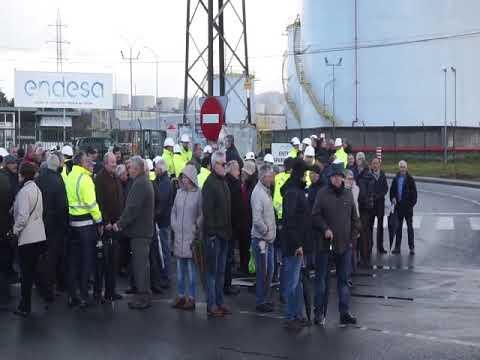 Nueva protesta de los trabajadores de Endesa en As Pontes