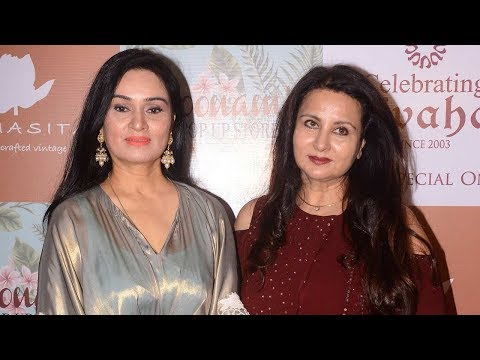 Padmini Kolhapure And Poonam Dhillon At Vivaha Collection Launch