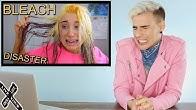 HAIRDRESSER REACTS TO MCKENZIE MARIE FRYING HER HAIR WITH BLEACH! |bradmondo