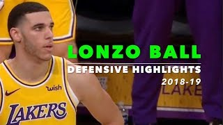Lonzo Ball Defensive Highlights   2018-19   Los Angeles Lakers