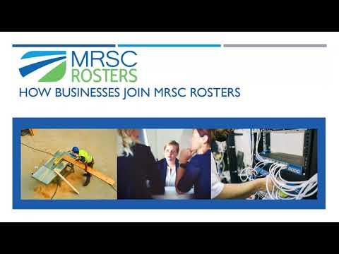 MRSC Rosters,  Public Agency Member Webinar, Dec. 2017