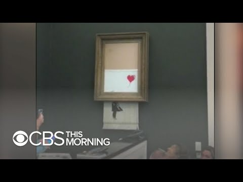 Banksy painting self-destructs after selling for over $1 million