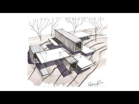 Как нарисовать концептуальный дом сверху?How To Draw A Conceptual House On Top?