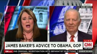 James A. Baker, III Speaks to Candy Crowley on CNN