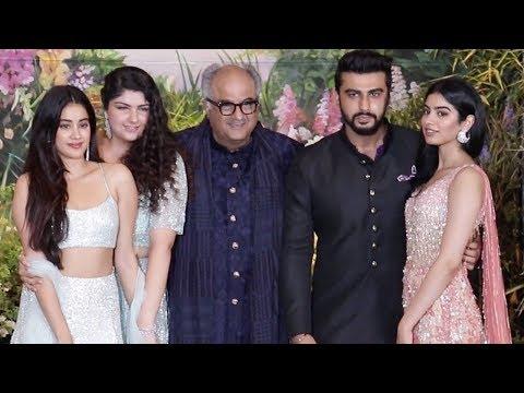 Boney Kapoor's Family Unite For The First Time | Arjun Anshula Jhanvi Khushi Kapoor