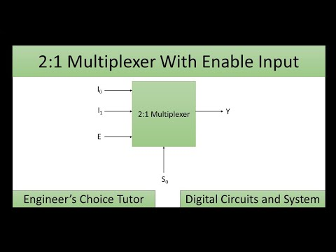 2 X 1 MUX With Enable Input