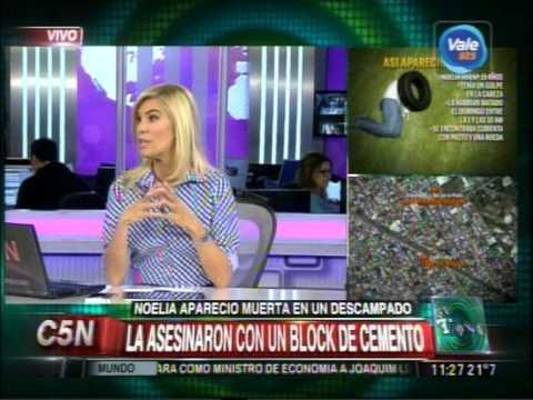 C5N - CRIMEN DE NOELIA: LA ASESINARON CON UN BLOCK DE CEMENTO