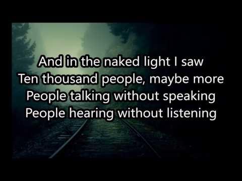 The Sound of Silence - Lyrics