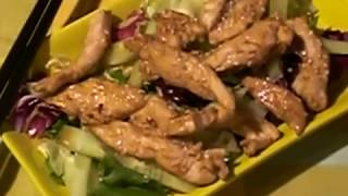 Салат из курицы и кунжута