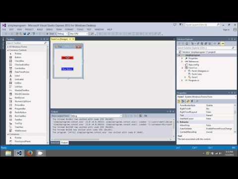 C# Beginners Tutorial - Simple Program using Visual Studio Express 2013