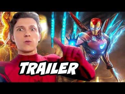 Spider-Man Far From Home Trailer 2 - Avengers Endgame Iron Man Easter Eggs Breakdown