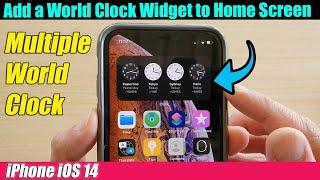 iPhone iOS 14: How to Add a World Clock Widget to Home Screen screenshot 1