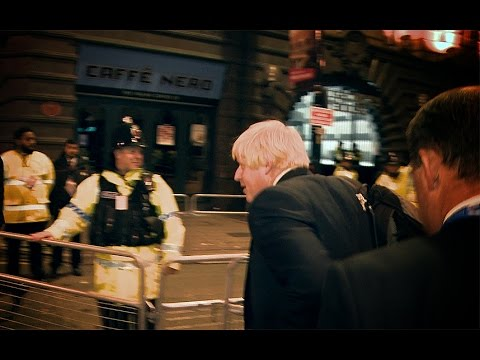 Protesters Target Boris At Conference