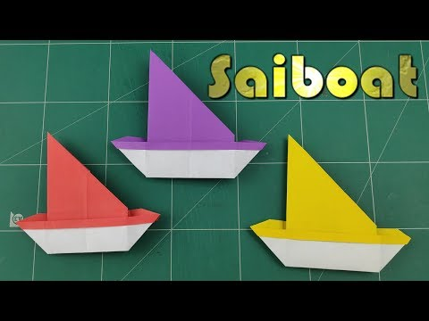 How to Make A Paper Boat | DIY Easy Paper SailBoat Tutorial | Origami Paper Boat Making Instruction